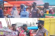 Antisipasi Kerumunan, Tim Gabungan Patroli Keliling di Pasar Simpang Empat