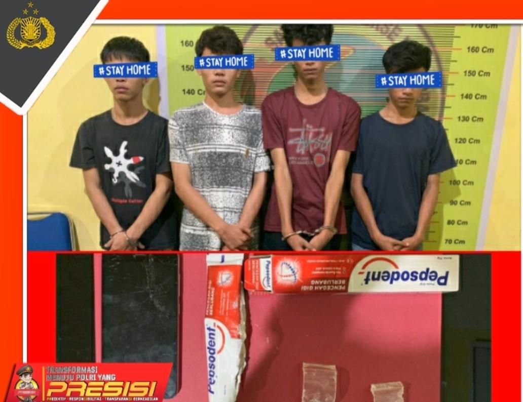 Nekat Bawa Sabu ke Sel Polres Pessel, Empat Pemuda di Ringkus Petugas