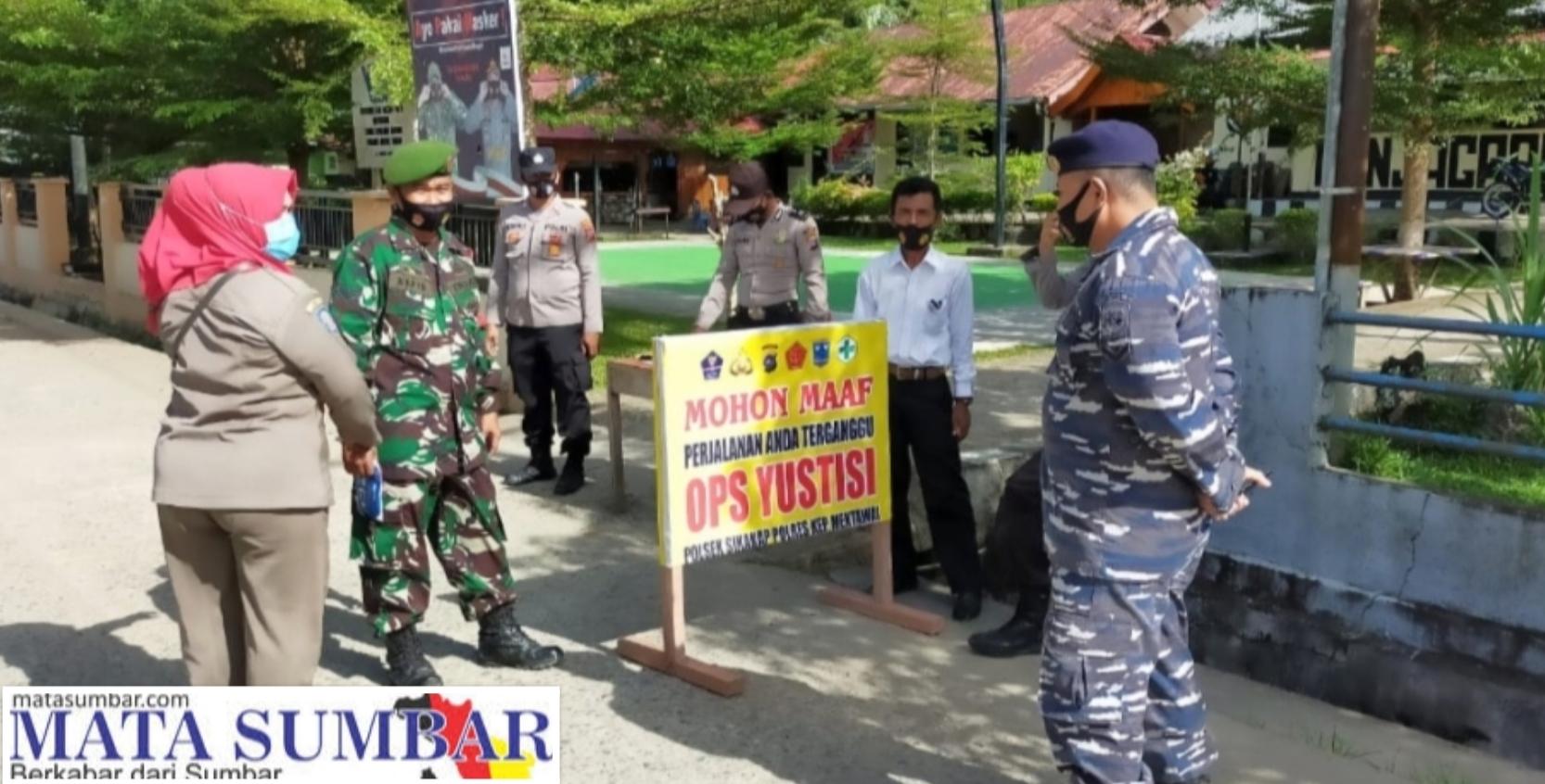 Penegakan Disiplin Prokes, Aparat Gabungan di Sikakap Gelar Operasi Yustisi