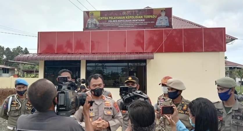 Polres Mentawai Konsisten Tegakan Hukum Bagi Pelanggar Prokes