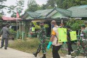 Penyemprotan Disinfektan di Lingkungan Pangkalan Kodim 0319/Mentawai