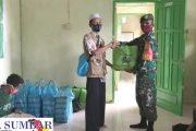 Kodim 0319/Mentawai Berbagi Nasi Siap Saji dan Bingkisan Lebaran di Ponpes Hidayatullah