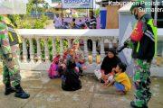 Antisipasi Penyebaran Covid-19, Babinsa Lengayang Tak Henti Gencarkan PPKM