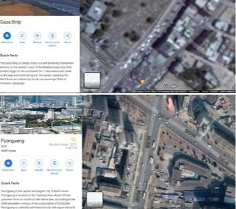 Lokasi Gaza-Palestina di Buramkan Google Earth