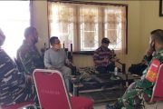 Danramil Sikakap Koordinasi Dengan Aparatur Desa Soal Ketentuan Pos PPKM