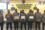 Polres Mentawai Gelar Opsnal Bulanan Gangguan Kamtibmas, Tiga Polsek Terima Piagam Penghargaan