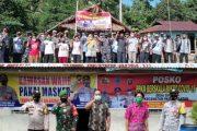 Danramil Sikakap Bersama Babinsa Monitoring Posko PPKM di Desa Matobe dan Sinakak