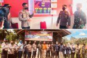 Dandim Bersama Kapolres Dampingi Ditpolair Polda Sumbar Tinjau Posko PPKM di Mentawai