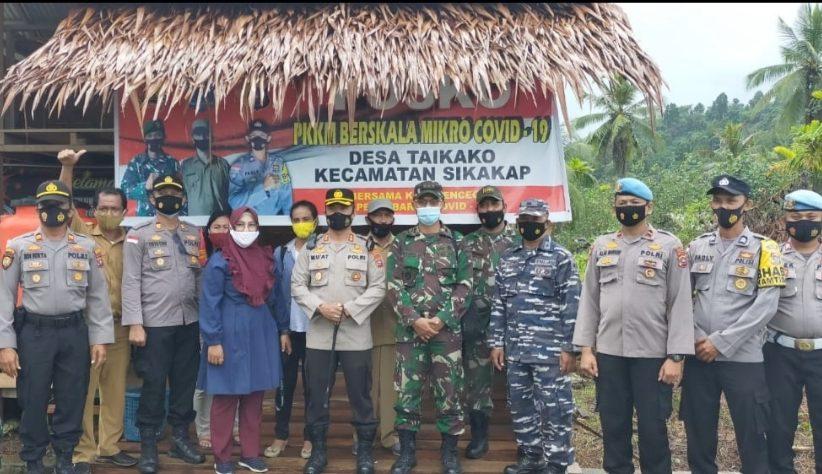 Kompak,Dandim Bersama Kapolres Tinjau Kesiapan Pilkades dan Posko PPKM di Tiga Desa Kecamatan Sikakap
