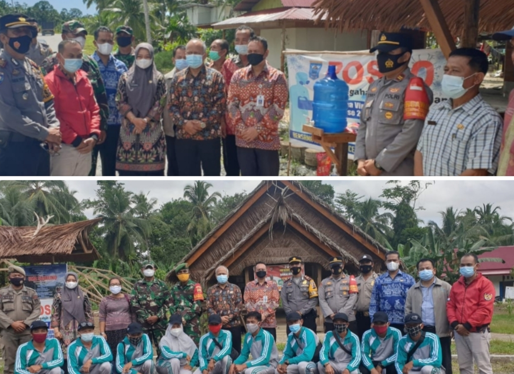 Balai Pemerintahan Desa Lampung Tinjau PPKM dan Pelaksanaan Pilkades di Mentawai