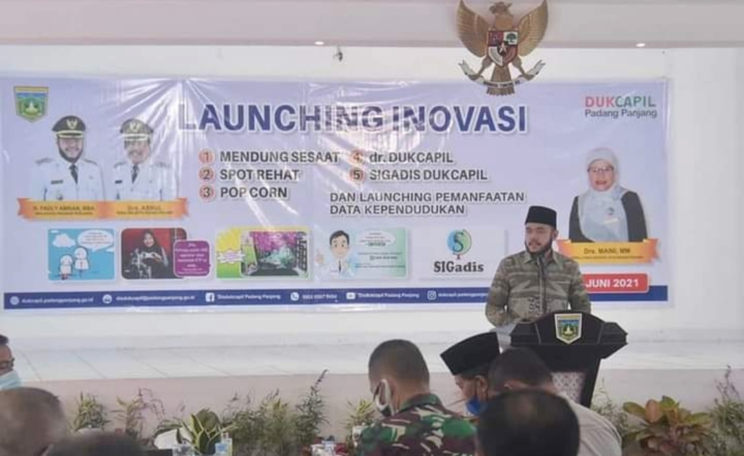 Wako Fadly Launching lima Inovasi Terbaru Disdukcapil