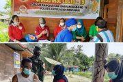 HUT Bhayangkara ke-75, Polres Mentawai Bersinergi Dengan Kodim dan Dinkes Menggelar Vaksinasi Massal