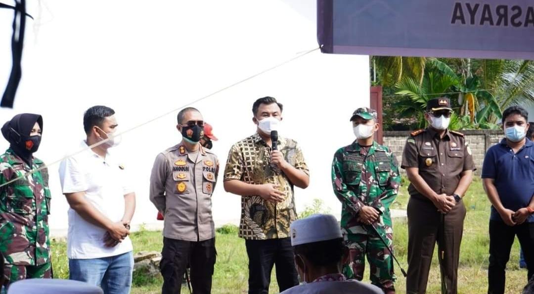 Sinergitas Pemkab Dharmasraya Bersama Forkopimda Pantau Vaksinasi Massal di Sungai Dareh