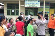 Dandim Bersama Forkopimda Bagikan Masker Gratis di Daerah Terpencil Mentawai
