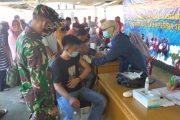 Babinsa Kodim 0311/Pessel Tak Henti Dampingi Warga Ikut Vaksinasi