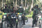 Kekompakan Dandim 0319/Mentawai Bersama Personel Dalam Melaksanakan Tugas