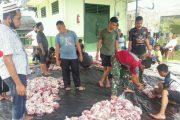 Sholat Idul Adha Bersama di Makodim 0319/Mentawai Sekaligus Pemotongan Hewan Qurban