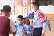 Vaksinasi Dosis Kedua di Lapas Padang di Ikuti Ratusan WBP