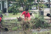 Budayakan Hidup Bersih dan Sehat, Kodim 0319/Mentawai Bersihkan Pangkalan