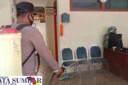 Usai Gerai Vaksinasi Massal, Area Mako Polsek Sipora di Semprot Disinfektan