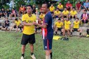 Akhir Masa Jabatan Kasatreskrim Mentawai Silahturahmi Bersama Masyarakat Dalam Ajang Olahraga Sepak Bola