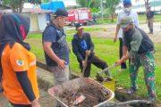 Persiapan Upacara HUT ke-76 RI, Koramil 04/Sikakap Goro Bersama Dengan Warga