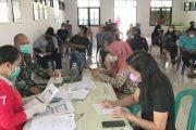 Serbuan Vaksinasi Kepada Masyarakat Kembali di Laksanakan Kodim 0319 Mentawai
