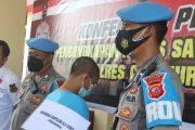 Pelaku Pembacok Dua Pemotor di Kawasan Desa Gekbrong di Cokok Polres Cianjur