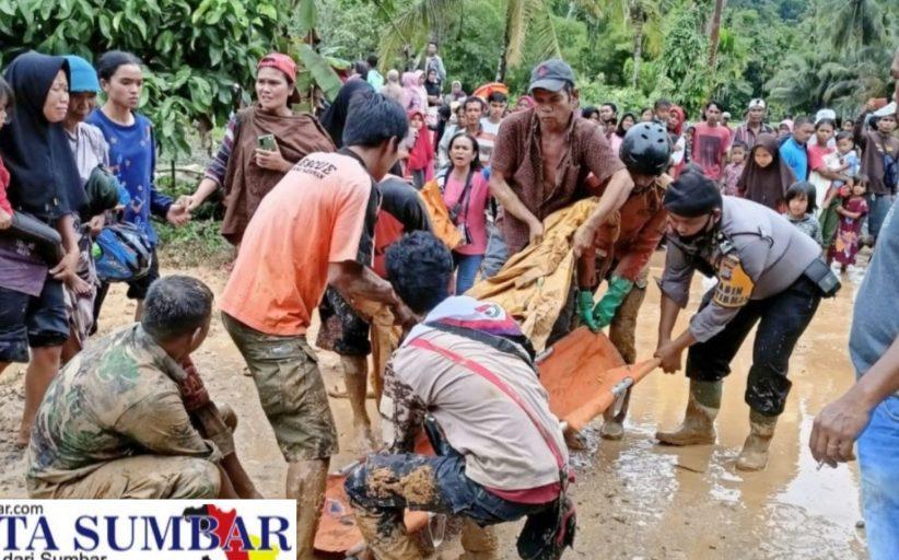 Peristiwa Dua Rumah Tertimbun Longsor di Korong Tanah Taban, 7 Orang Meninggal dan 4 Orang Selamat