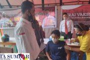 Satreskrim Polres Mentawai Bersama Dinkes Gelar Vaksinasi di SMAN 2 Sipora