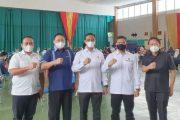 Ditreskrimum dan Ditreskrimsus Polda Sumbar gelar Vaksinasi Gratis di Gedung Olahraga HTT Padang