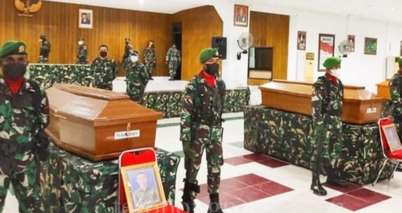 Korban Penyerangan Pos Koramil Kisor Tiba di Sorong, Mayor Puguh : 4 Jenazah Prajurit TNI Rencana di Kirim ke Daerah Asal