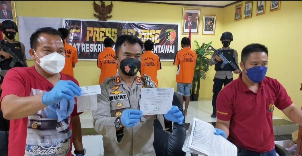 Satreskrim Polres Mentawai Ungkap Kasus Judi Togel, Tiga Pelaku di Tangkap