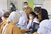 Vaksinasi di SMPN 5 Padang Panjang di Ikuti 149 Pelajar Dengan Semangat