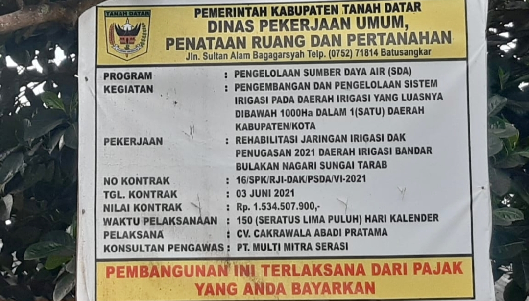 Pekerjaan Perbaikan Irigasi Bandar Bulakan Tuai Prokontra, Perusahan Bayar Gaji Pekerja di Cicil