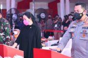 Kapolri, Panglima dan Ketua DPR RI Tinjau Vaksinasi Massal Akabri 96 Sekaligus Serahkan Bansos dan Launching Transformasi Digital UMKM Presisi