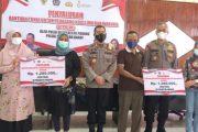 Bantuan Dana BTPKLW Tahap I Untuk Pelaku UMKM di Salurkan Polda Sumbar