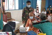 Vaksinasi Perdana di Desa Sotboyak di Ikuti Masyarakat dan Pelajar, Peserta 104 Orang