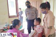 Gerai Vaksinasi TNI-Polri di Desa Saureinu' di Ikuti Pelajar SD,SMP,SMK dan Masyarakat