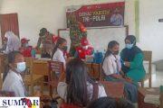 Peringati HUT ke-76 TNI, Koramil Sikakap Bersama Forkopimcam Gelar Vaksinasi Massal di SMAN 1 PUS