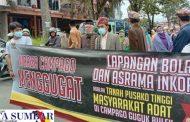 Terkait Surat Gugatan Perkara Lahan Pusako, Ratusan Warga Kelurahan Campago Guguk Bulek Datangi PN Bukittinggi