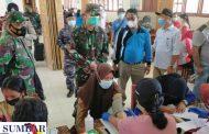 Koramil Sikakap Dampingi Vaksinasi Maritim di SMAN PUS, Peserta di Ikuti Sebanyak 1.243 Orang