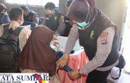 Kasat Lantas Polres Tanah Datar Pimpin Akselerasi Vaksinasi Presisi di SMPN 2 Batusangkar