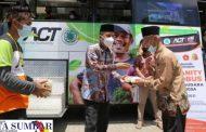 Bantu Masyarakat di Bidang Sosial, Wawako Solok Launching Humanity Food Bus-ACT