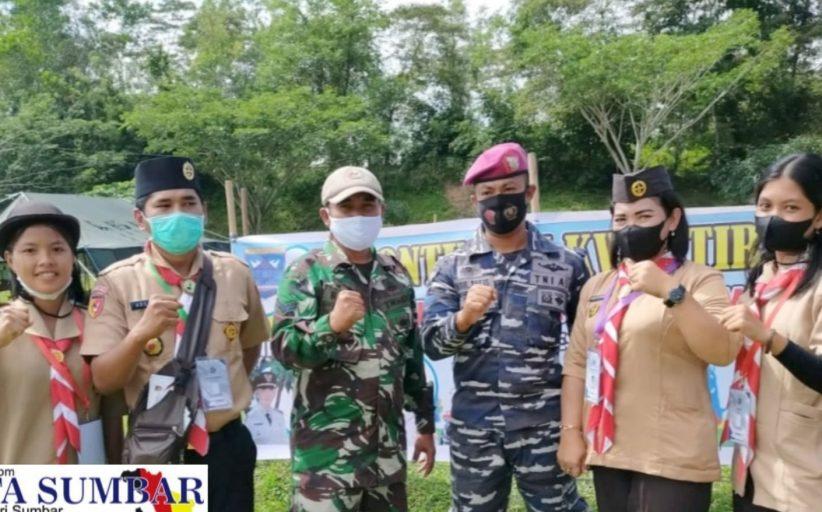 Lomba Giat Prestasi Pramuka Kwartir 15 Mentawai di Sawahlunto di Dampingi Anggota Koramil Sikakap