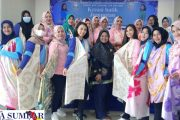 Persit KCK Cabang LXV Kodim 0311 Pessel Kolaborasi Dengan Iwabri Gelar Pelatihan Pembuatan Batik