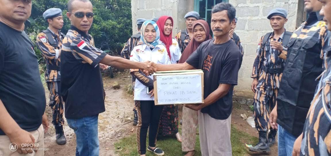 Pekat-IB DPD Solok Selatan, Peduli Korban Angin Puting Beliung