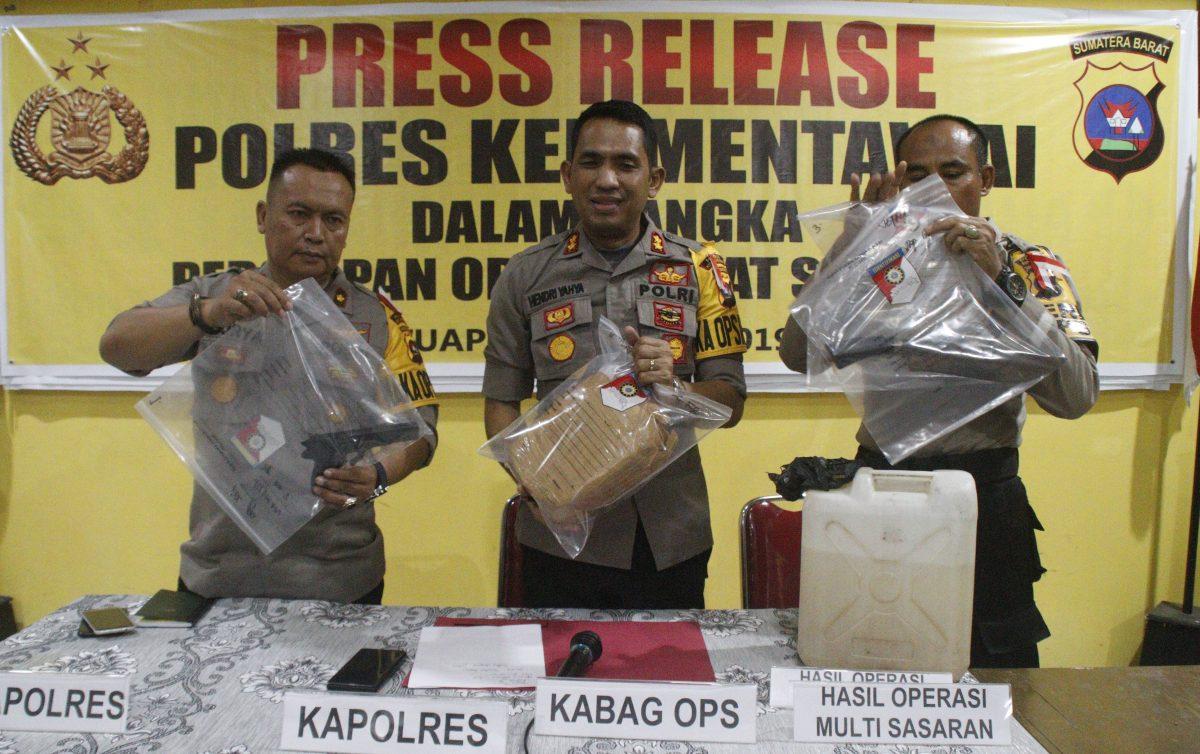 Operasi Keselamatan dan BKS, Polres Mentawai Amankan Beberapa Temuan