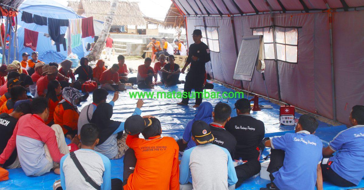 75 Peserta Jambore PRB di Mentawai Ikuti Pelatihan PPGD