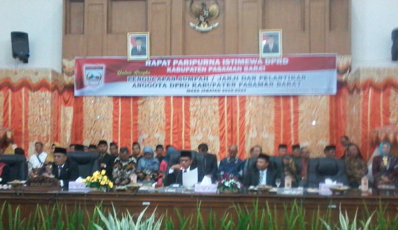 KPU Pasaman Barat Tetapkan 40 Anggota DPRD Terpilih